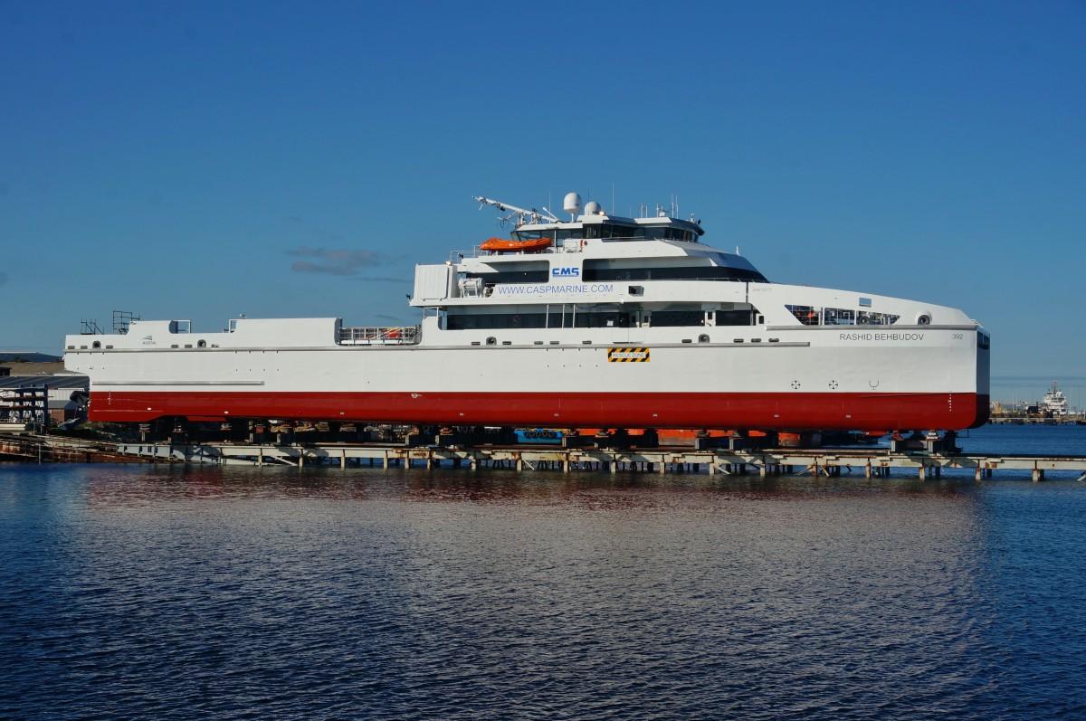 Offshore Marine Services Australia : Austal launches metre offshore crew transfer vessel