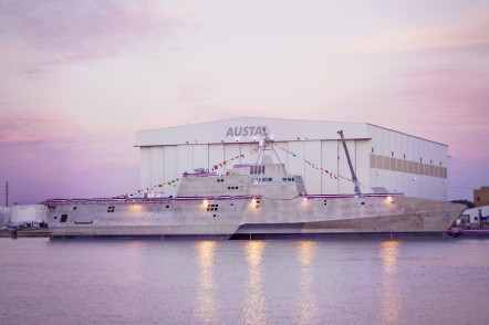 USS Coronado (LCS 4) at Austal USA in Mobile, Alabama