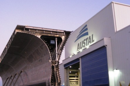 Module of JHSV (now EPF) at Austal USA in Mobile, Alabama